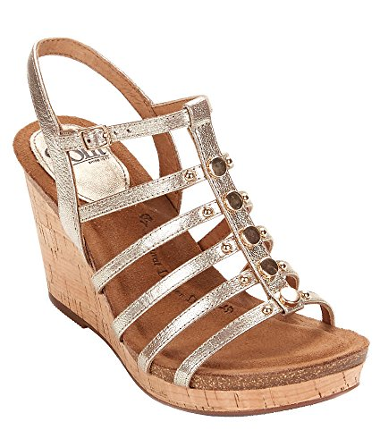 M Up Sofft Up 6 Women's Pull Goat Lt Pull Lt Black Goat Satin Cassie sandals Gold YgqwzgUR