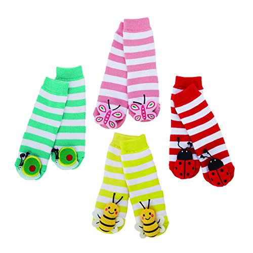 (Two's Company Insect Rattle Socks Set of 4 Designs Children Sock)