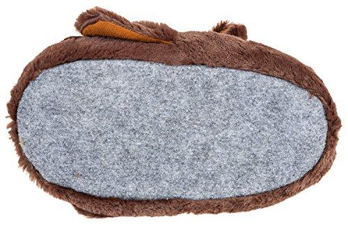 GIBRA® Tierhausschuhe Hunde Hausschuhe, dunkelbraun, Gr. 41-46 Braun