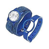 Swarovski Damen-Armband Slake DLX AC Activity Carrier Blau Stoff weiß...