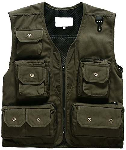 Photographie Man pocket Jacket Green Mochoose Work Army Pêche Chasse Gilet Multi Fly 0ZdHAEq