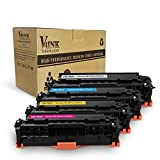V4INK 4 Packs New Replacement for 118 CRG118 CC530A 304A Toner Cartridge for use with Canon ImageCLASS MF726Cdw LBP7660Cdn MF8580CDW MF8380Cdw,Color Laserjet CP2025dn CM2320fxi