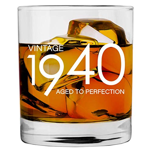 1940 Aged to Perfection 80th Birthday Glass