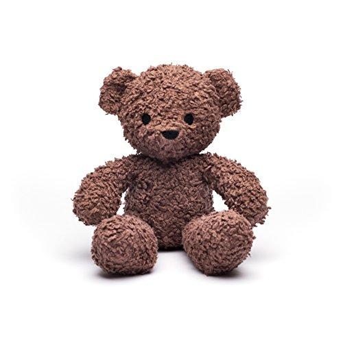Bears for Humanity Organic Sherpa Plush Animal Toy, Dark Brown, 12