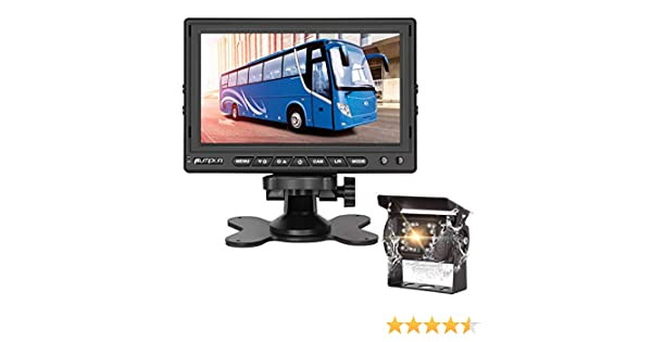 """Built-in Microphone 2 Channel Video Inputs Support Super Night Vision Sony Sensor+ IP69 Waterproof Rear View Camera for Car Trucks RV Trailers PUMPKIN Backup Camera System Kit with 7/"""" Monitor"""