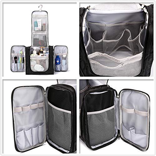 Large Hanging Travel Toiletry Bag for Men and Women Waterproof Makeup  Organizer Bag wash bag Shaving Kit Cosmetic ... 67c3265afbc94