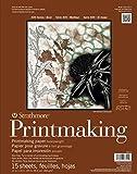 "Strathmore (433-11 400 Series Printmaking Pad, Heavyweight, 11""x14"", 15 Sheets"