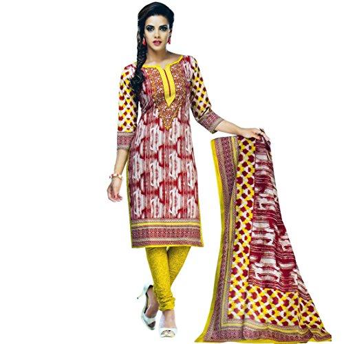 Designer Printed Cotton Salwar Kameez Ready To Wear Indian Dress Suit (Pakistani Designer Shalwar Kameez)