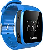Techsixtyfour Gator Watch Wearable Mobile Phone and GPS/WI-FI Tracker for Kids, Blue, UK SIM Only