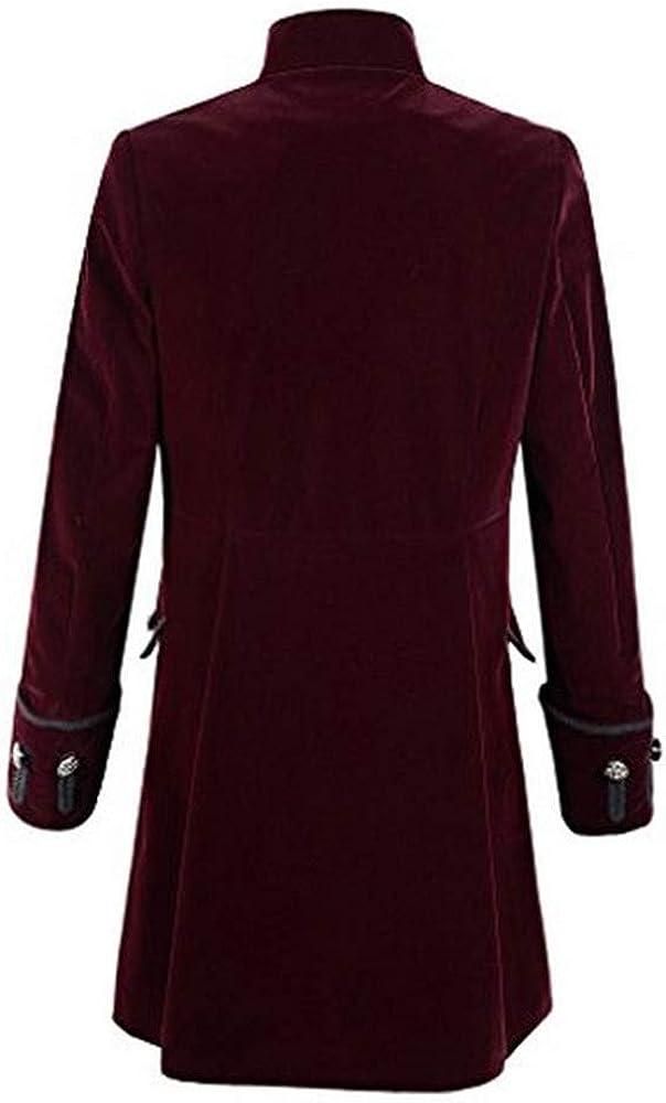 Gran promoción! Traje de Fiesta, Uniforme y Vestido Largo gótico de Color sólido para Hombre de otoño e Invierno de Internet