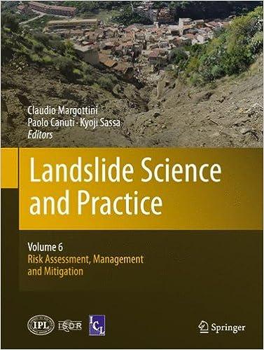 Book Landslide Science and Practice: Volume 6: Risk Assessment, Management and Mitigation