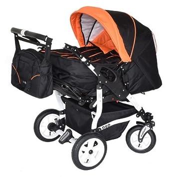 Zwillingskinderwagen mit babyschale  Adbor Duo 3in1 Zwillingskinderwagen mit Babyschalen und 2 Isofix ...