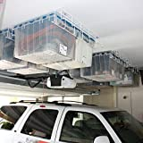Garage Storage Rack System, Ceiling Mounted,  White, 1 Set
