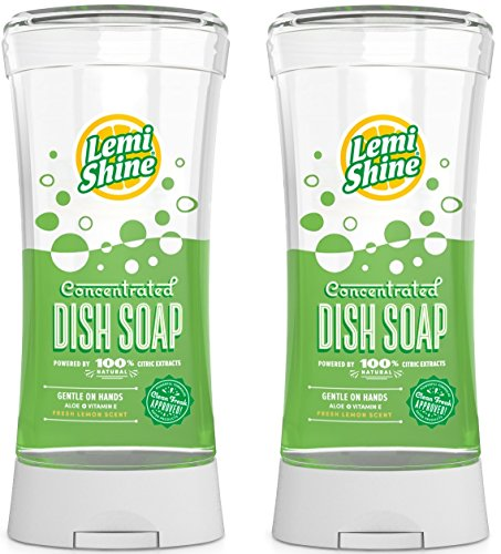 Lemi Shine Concentrated Dish Soap, Gentle On Hands, 22 oz each - 2 PACK