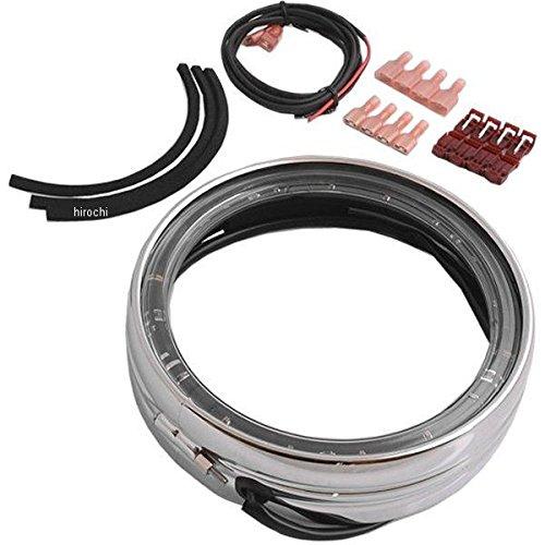 クリアキン Kuryakyn LED ヘッドライト トリムリング 5.75インチ XL、FXD、FXST クローム 2040-1326 7749 B079P34946
