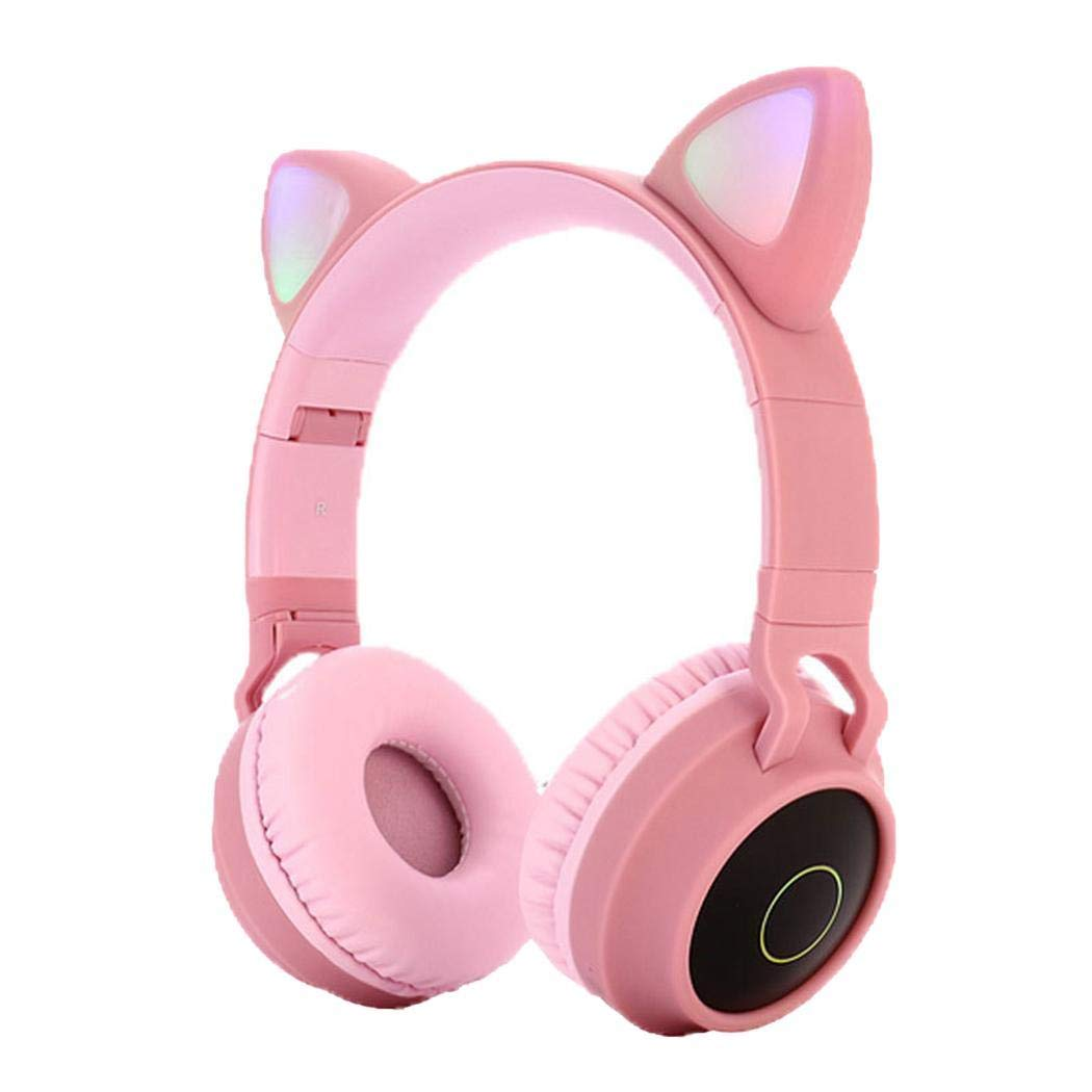 Eubell Bluetooth Headphones Wireless Over Ear Cat Ear Headphones with LED Light Foldable Built-in Microphone and Volume Control for Cell Phones/Phone/Pad/Laptop/PC/TV Kids Boys Girls Friends