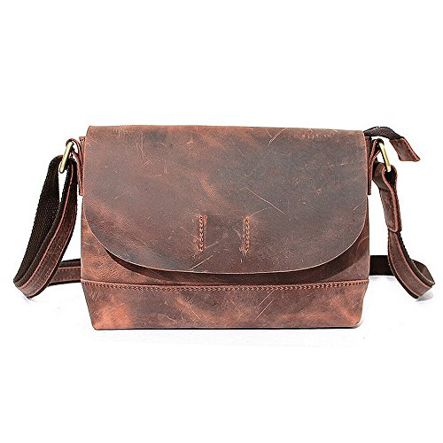 Paonies Men Women Leather small Handbag Crossbody Shoulder Bag by Paonies