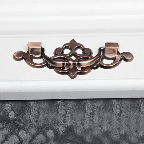 10pcs Red Antique Bronze Wardrobe Handles Cabinet Furniture Drawer Pull Cupboard Handles by LEICHI (Image #2)