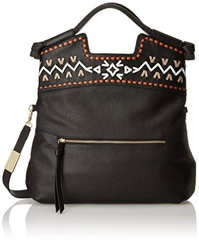 Foley + Corinna Embellished Weave Mid City Top Handle Bag, Black, One Size