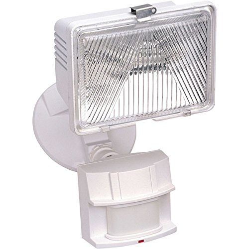 Heath Zenith SL-5525-WH 250-Watt Quartz Motion-Sensing Light, White
