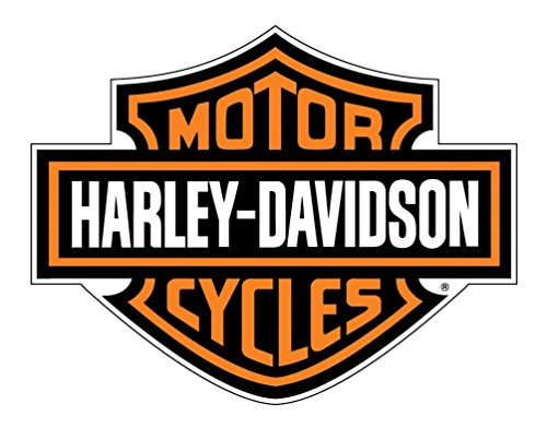 HARLEY-DAVIDSON Decal, Orange Bar & Shield Logo, X-Large 29 x 37 Inch CG4310 (Harley Davidson Small Stickers)