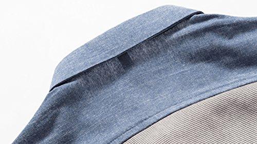 [スミドレン] メンズ 長袖 シャツ カジュアル デニム 風
