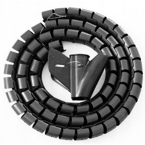 TRIXES Avvolgi cavo nero a spirale per ordinare i cavi 1.5 Metri … YA27