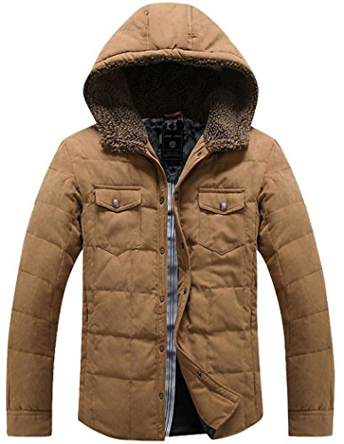 Tooboo-Mens-Winter-Thicken-Down-Hooded-Coat-Outwear-Jacket
