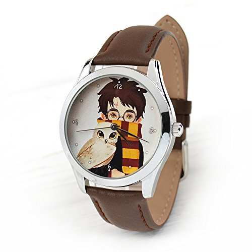 Harry Potter Watch - Quartz Watch For Men And Women With Leather Band - Harry Potter Jewelry (brown)