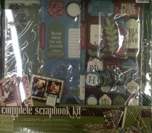 - Colorbok Complete 12x12 Scrapbook Kit -1 Hour Start to Finish Step By Step -English Meadow