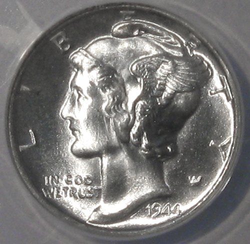 1944 D U. S. Winged Mercury Dime 10 Cent Silver Liberty Old Coin Anacs Certified UNC. MS 67 FSB