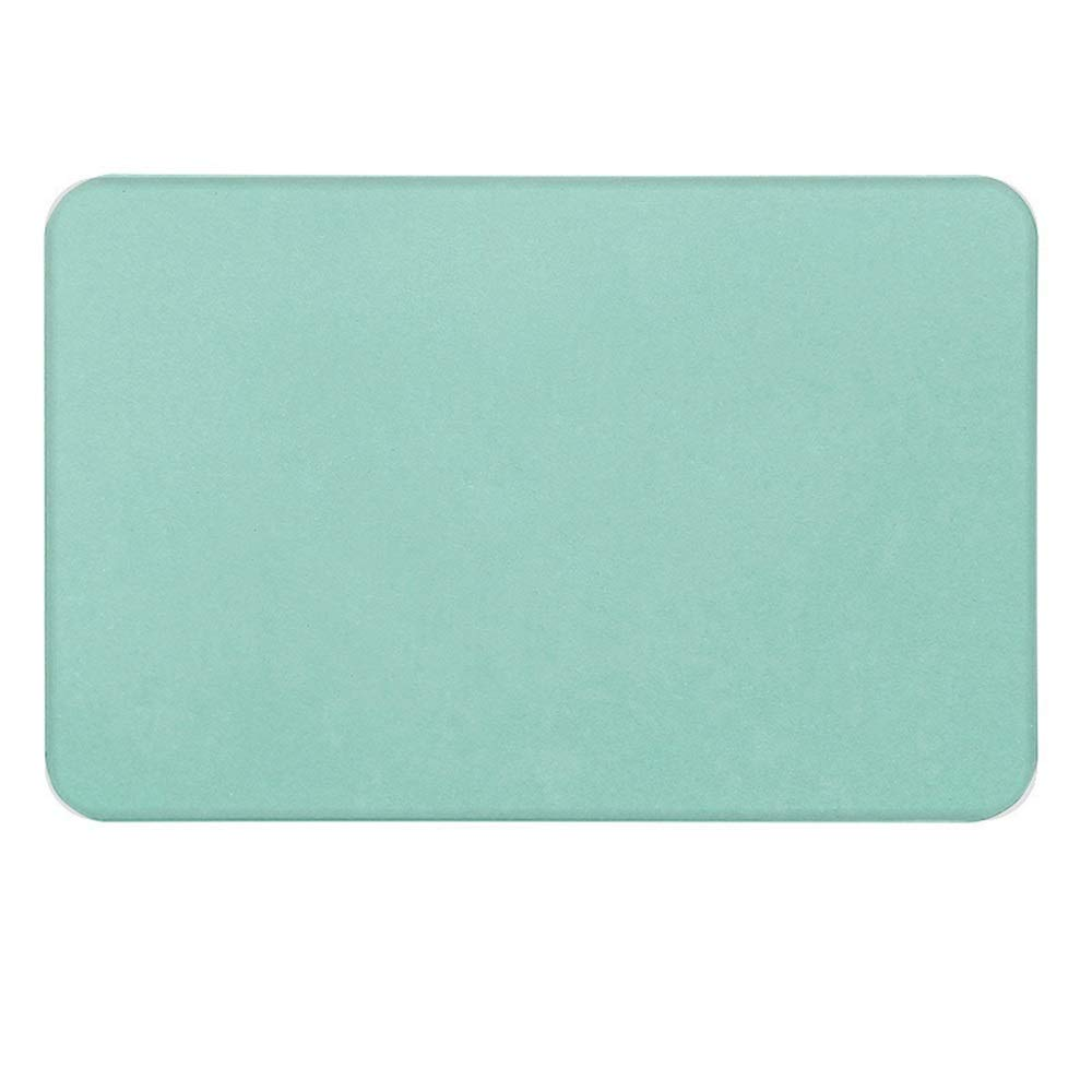 ETH Green Natural Diatomaceous Earth Bath Mat Absorbent Water Quick-Drying Does Not Fade Furniture Versatile Brushed Surface Mat (Size : 6039)
