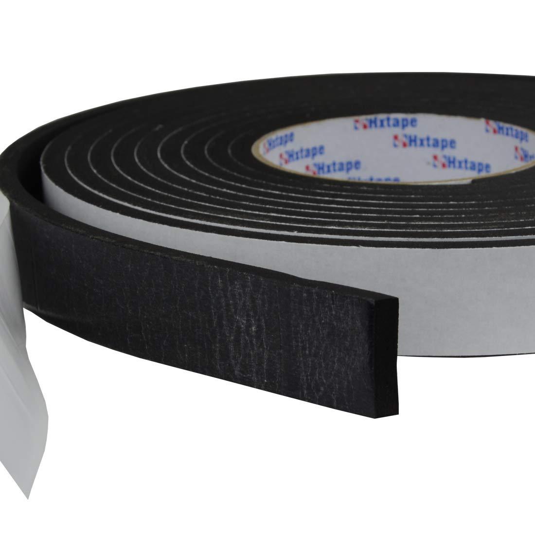 Hxtape High Density Foam Tape,Single Side Adhesive,Soundproofing Waterproofing Insulation Foam Gasket Tape Weather Strip 1//2Thick-1//2-26ft