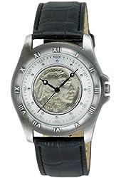 August Steiner Men's CN002S-AS Round Buffalo Nickel Collectors Gold Coin  Watch