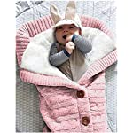 XMWEALTHY-Unisex-Infant-Swaddle-Blankets-Soft-Thick-Fleece-Knit-Baby-Girls-Boys-Stroller-Wraps-Baby-Accessory-Light-Pink