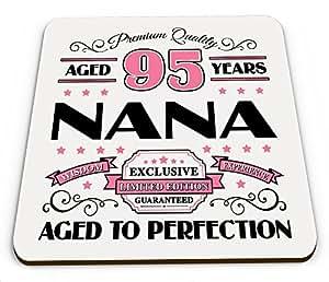 Premium calidad 95años Nana taza brillante posavasos–rosa