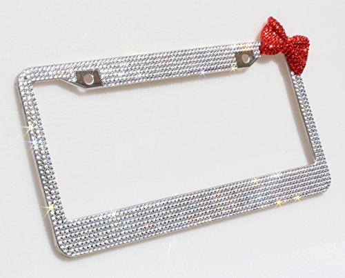 license plate frame bling bow - 4