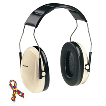 7f0e096ef5c Amazon.com : Noise Reduction Headphones Adult Size for Autism Safety  Hearing Protection BEIGE : Office Products