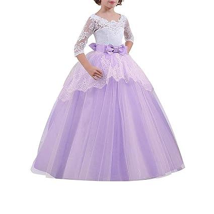 mejor proveedor garantía de alta calidad amplia selección de colores y diseños Zhhlinyuan Vestidos de Rosa Princesa Flor Boda para Las ...