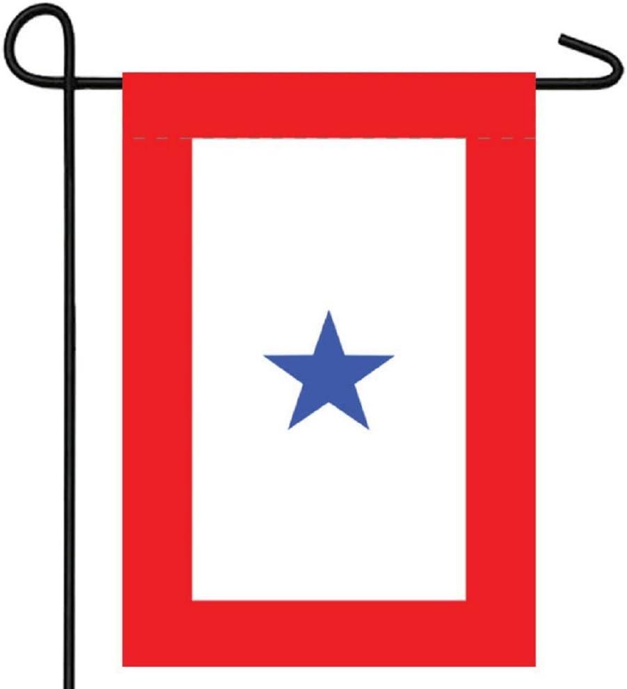 """RFCO Blue Star Service (1 Star) 12""""x18"""" Garden Flag with Sleeve"""