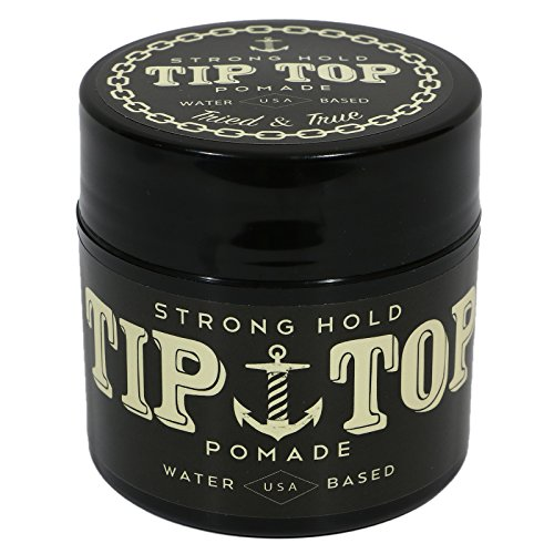 Tip Top Strong Hold Water Based Pomade 4.25oz (The Best Water Based Pomade)