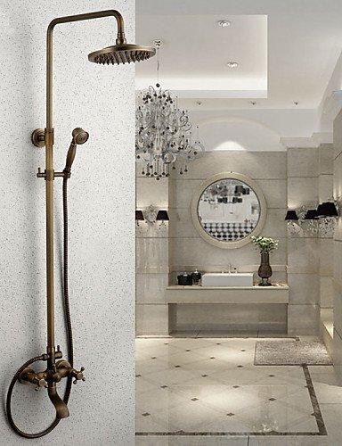 Grifo de la Ducha lluvia ducha latón antiguo latón ducha de mano incluida