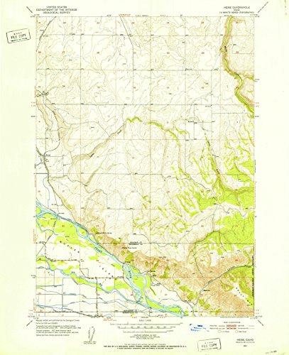 Price comparison product image Idaho Maps | 1951 Heise, ID USGS Historical Topographic Map | 18in x 24in