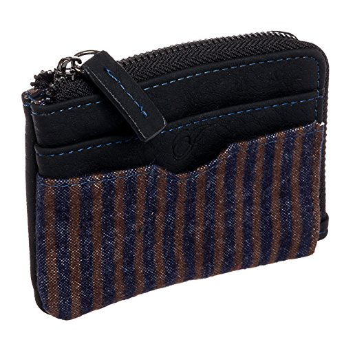Icon Zip Around Wallet - Icon Brand Mens Faux Leather Big Poppa Zip Around Wallet (Black)