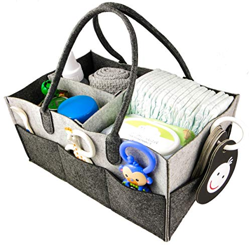 Baby Diaper Changing Organizer Caddy – Convenient & Durable Diaper Storage Nursery Basket for Changing Table – Store, Organize & Carry Infant Diapers, Clothes, Toys Snacks – Perfect Baby Shower Gift