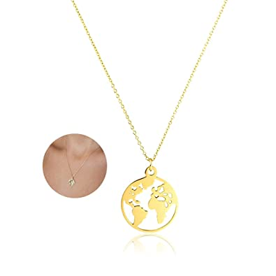 Amazon.com: YOOE Geometric Round World Map Pendant Necklace ... on norristown map, franconia map, ambler map, milford map, lafayette hill map, warrington map, upper darby map, blue bell map, souderton map, lansdale map, lincoln university map, frederick map, orkney map, wayne map, conshohocken map, valley forge map, pentland firth map, new hope map, monroeville map, media map,