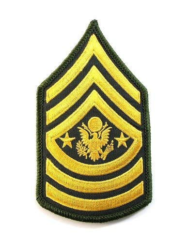 Army Command Sergeant Major Stripes Embroidered Military Patch Iron Sew AKPM155
