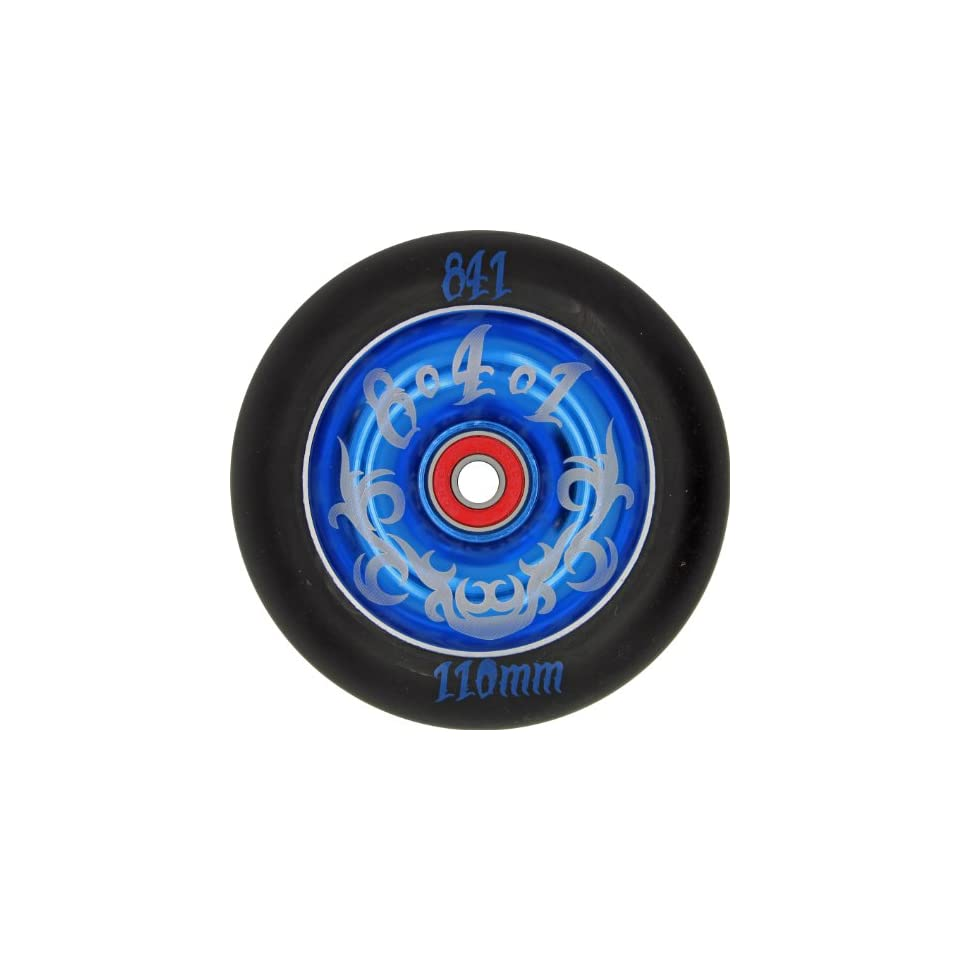 841 Tribal Wheel Black/Blue 110mm