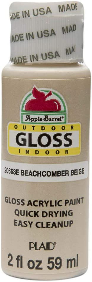Apple Barrel Gloss Acrylic Paint in Assorted Colors (2-Ounce), 20663 Beachcomber Beige