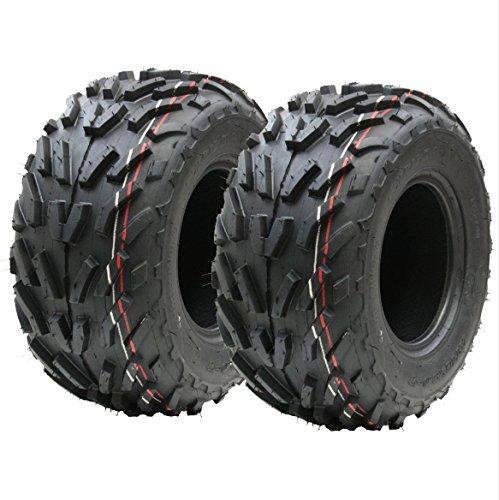 Dos (par) 16x8.00-7 neumáticos de cuádruple, 16 x 8-7 ATV E marcó el neumático de la Carretera Legal 7 Pulgadas: Amazon.es: Jardín